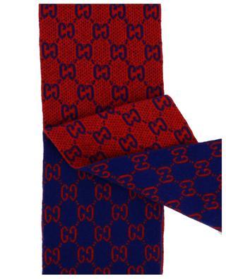 GG print wool scarf GUCCI