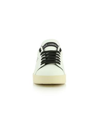 Portofino low-top leather sneakers with logo print DOLCE & GABBANA