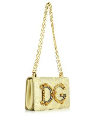 DG Girls floral lamé brocade shoulder bag DOLCE & GABBANA
