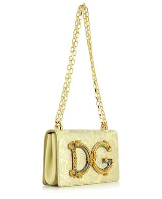 Sac porté épaule en brocard fleuri lamé DG Girls DOLCE & GABBANA