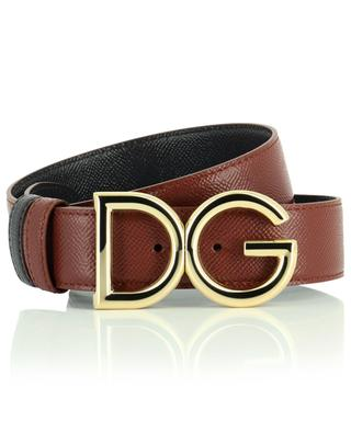 DG logo grained leather reversible belt DOLCE & GABBANA