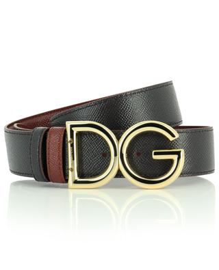 Wendbarer Gürtel aus genarbtem Leder mit Logo DG DOLCE & GABBANA