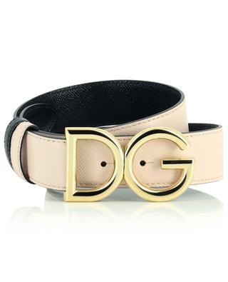 DG logo grained leather reversible belt DOLCE & GABBANA