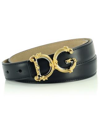 DG-Logo-Gürtel aus Leder DOLCE & GABBANA