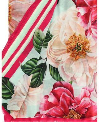 Leichter Schal aus Modal und Kaschmir mit Blumen Camellia DOLCE & GABBANA