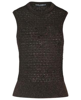 Sleeveless top in virgin wool and viscose blend DOLCE & GABBANA