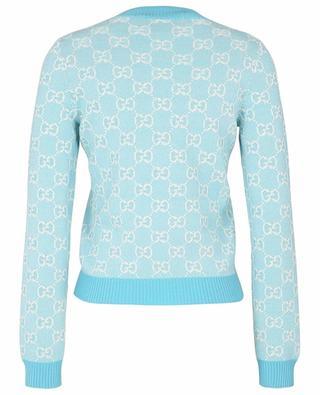 GG Jacquard thin wool and cotton piqué jumper GUCCI
