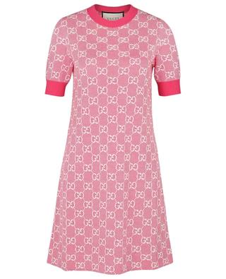 GG Jacquard A-line piqué knit mini dress GUCCI