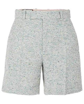 Cotton-blend pleated shorts GUCCI