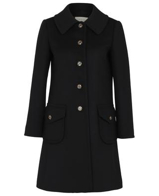 A-line wool coat with GG logo buttons GUCCI