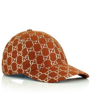 Lurex GG wool blend baseball cap GUCCI