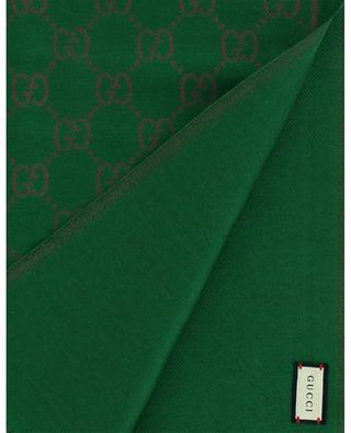 Schal aus Woll-Jacquard GG Lamé GUCCI
