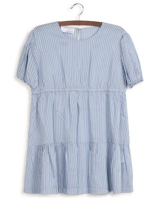 Mela Layer short striped tiered flounced dress DESIGNERS REMIX GIRLS