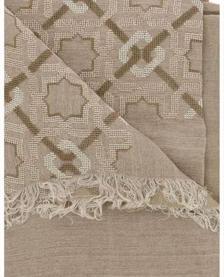 Bestickter Schal aus Leinen- und Baumwollmix Alhambra SEP JORDAN