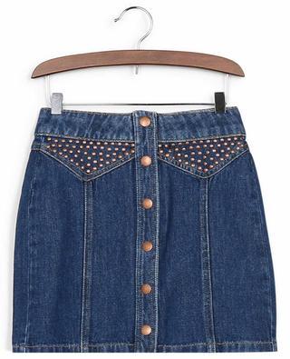 Influent denim mini skirt with studs INDEE