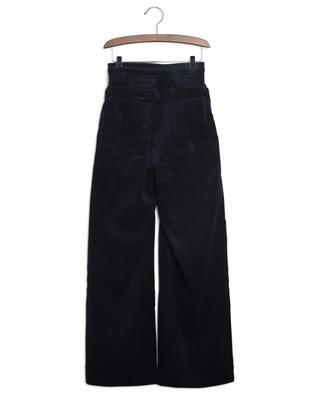 Pantalon large taille haute en velours côtelé Identity INDEE