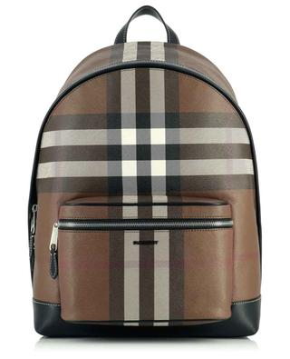 Jett Check checked organic canvas backpack BURBERRY