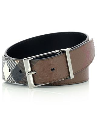 E-Canvas Louis35 Check reversible leather and canvas belt BURBERRY