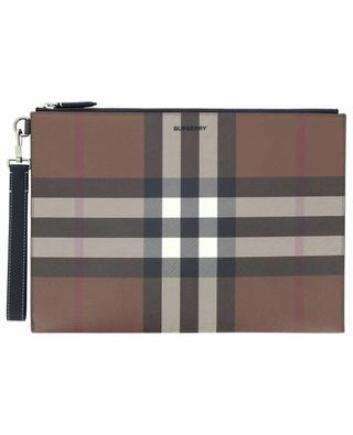 Edin House Check canvas and leather briefcase BURBERRY