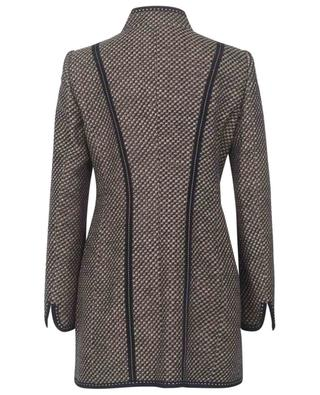 Long tweed blazer with stand-up collar MAISON COMMON