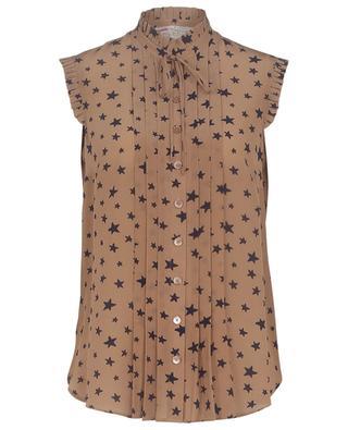 Little Star printed silk sleeveless top MAISON COMMON
