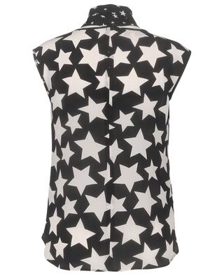 Star printed sleeveless silk top MAISON COMMON