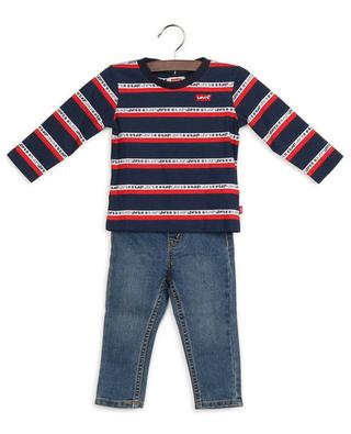 Cotton-blend long-sleeve T-shirt and trouser combination LEVI'S KIDS