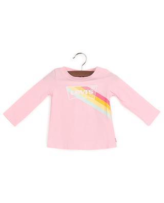 Cotton long-sleeve logo T-shirt LEVI'S KIDS