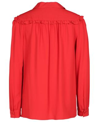Ruffled crepe shirt M MISSONI