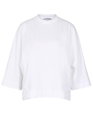 Boxy-T-Shirt aus Biobaumwolle GANNI