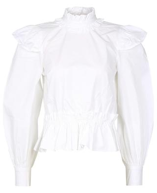 Verkürzte Bluse aus Biobaumwolle mit Schoss GANNI