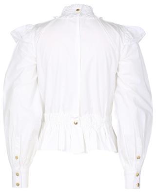 Cropped organic cotton peplum blouse GANNI
