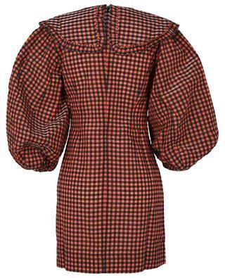 Mini robe en seersucker à carreaux vichy GANNI