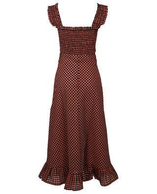 Robe longue à bretelles en seersucker à carreaux vichy GANNI