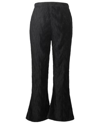 Pleated satin high-rise trousers GANNI