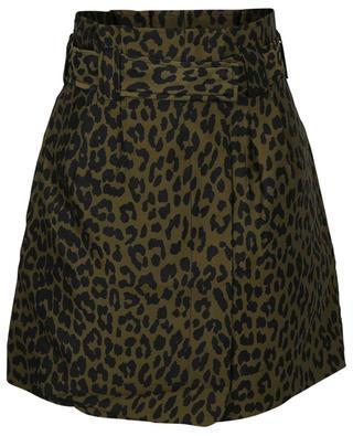 Minijupe en jacquard motif léopard GANNI