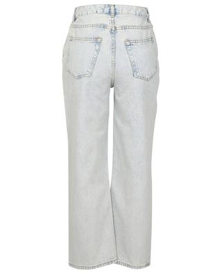 Light washed high-rise cropped jeans in organic cotton GANNI