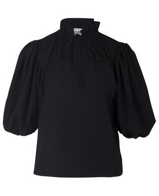 Bluse mit Puffärmeln aus schwerem Crêpe GANNI