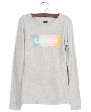 T-shirt à manches longues en coton mélangé avec logo LEVI'S KIDS
