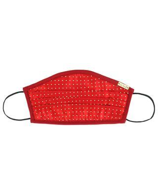 Gepunktete Mund-Nase-Maske aus Seide Irene ITALO FERRETTI
