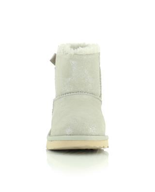 K Mini Bailey Bow II Shimmer glittering padded booties UGG