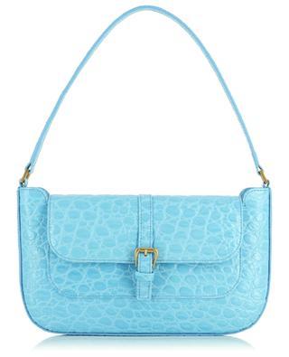 Miranda Lagoon croco embossed leather handbag BY FAR