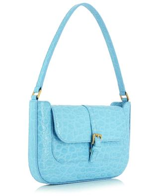 Miranda Lagoon croco embossed leather handbag BY FAR