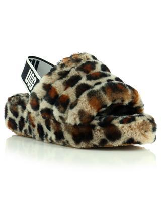 Keilpantoletten aus Schafspelz W Fluff Yeah Leopard UGG