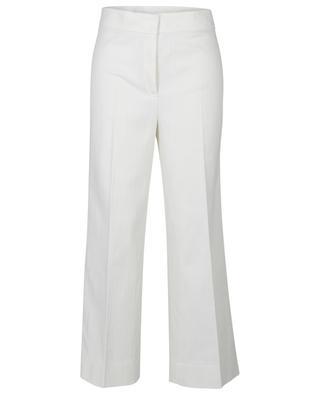 Weisse Jeans mit weitem Bein und hoher Taille Chieko AKRIS PUNTO