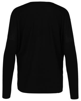 Pull fin ample en laine embelli de cristaux noirs AKRIS PUNTO
