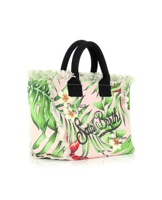 Kleiner Shopper aus Segeltuch mit Print Colette Dragon Flower MC2 SAINT BARTH