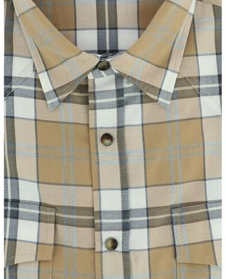 Madras square cotton shirt BRUNELLO CUCINELLI