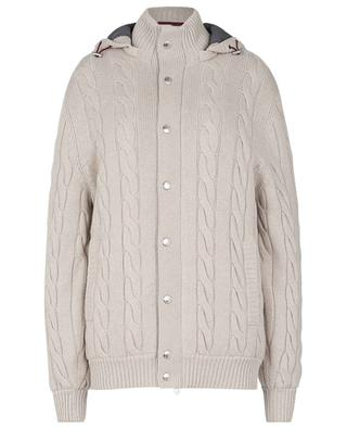 Padded cashmere bomber jacket with removable hood BRUNELLO CUCINELLI