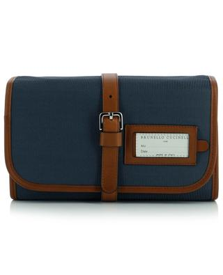 Leather and nylon toiletry bag BRUNELLO CUCINELLI